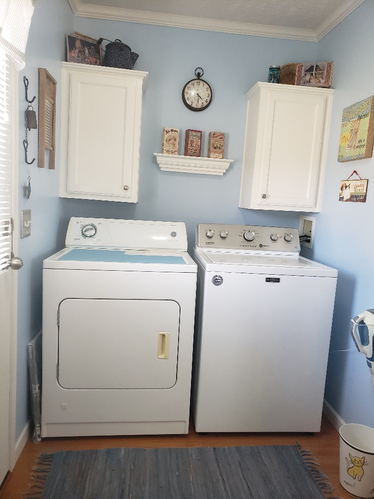 Separate Laundry Rm with New Washer